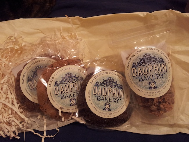 Cookies and granola from Dauphin Bakery.
