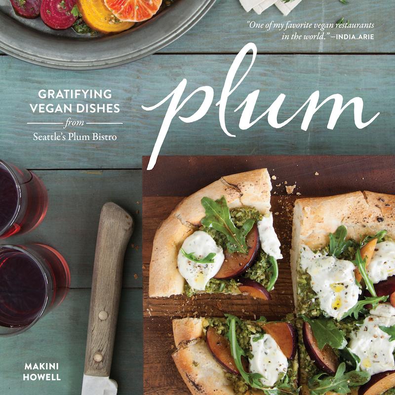 Cover for Plum's vegan cookbook
