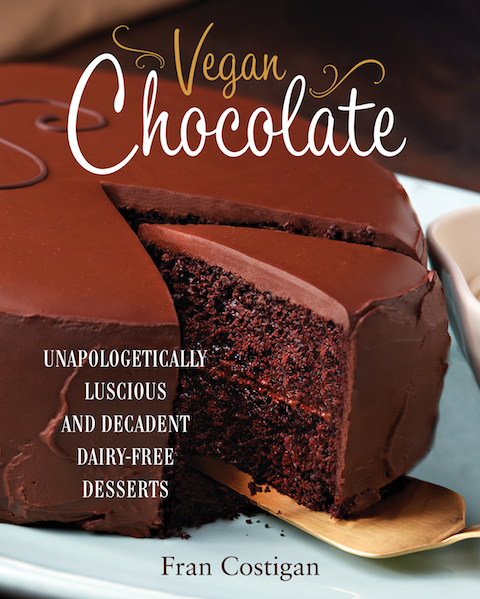 The cover of Fran Costigan's Vegan Chocolate Cookbook