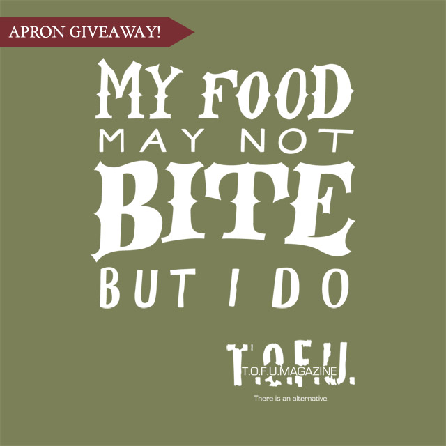 My Food May Not Bite But I Do Apron Giveaway