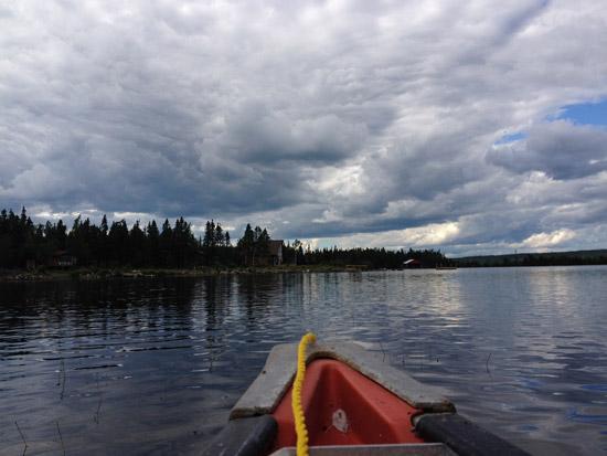 A canoe on Thorburn Lake, Newfoundland and Labrador
