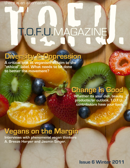 Cover for issue six of T.O.F.U. Magazine