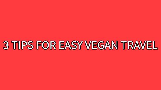 Cover for 3 Tips For Easy Vegan Travel