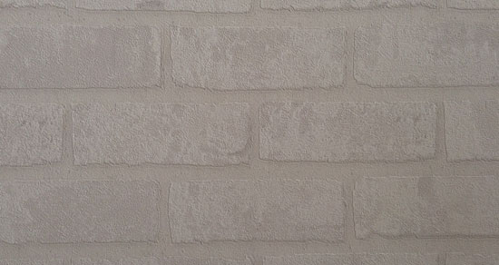Image contains a white wall with a brick pattern on it.